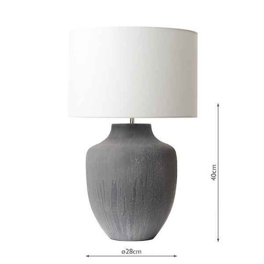 Udine Grey Table Lamp Base Only