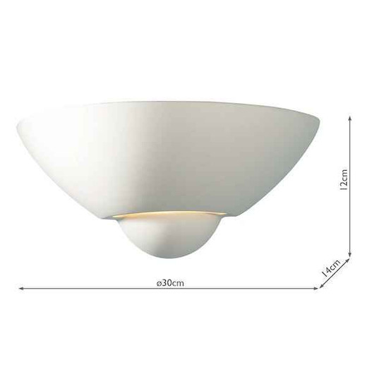 Vector Unglazed Ceramic Wall Washer Wall Light