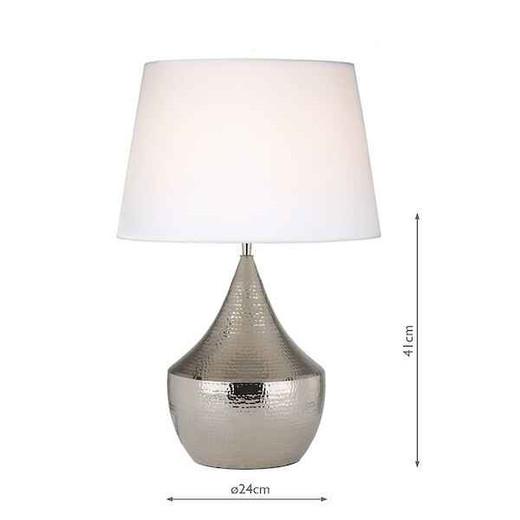 Vorana Polished Nickel Hammered Finish Table Lamp Base Only