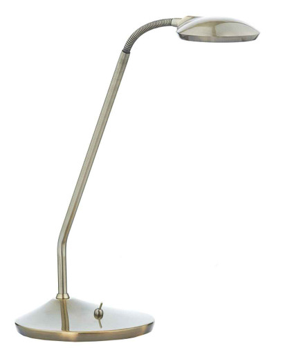 Wellington Antique Brass LED Adjustable Table Lamp