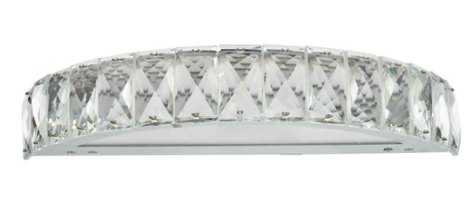 Wonder Polished Chrome with Faceted Crystal Rectangles LED Wall Light