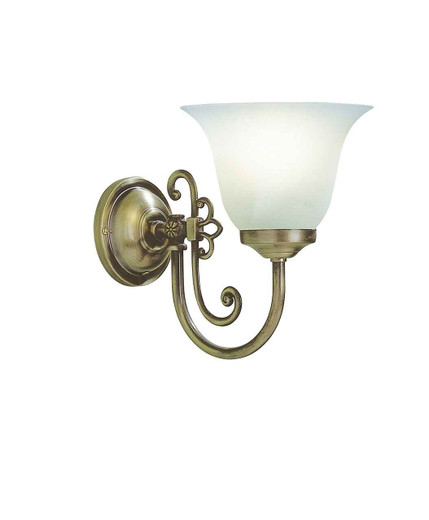 Woodstock Antique with Glass Single Wall Light