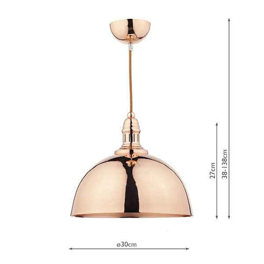 Yoko 1 Light Copper Pendant Light