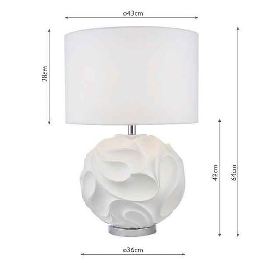 Zachary White Round with ShadeTable Lamp
