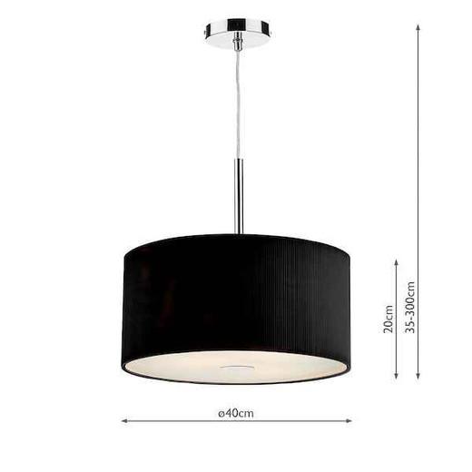 Zaragoza 3 Light Black 400MM Pendant Light