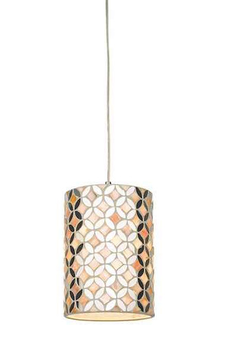 Acquila Mirror and Cream Easy Fit Pendant Light