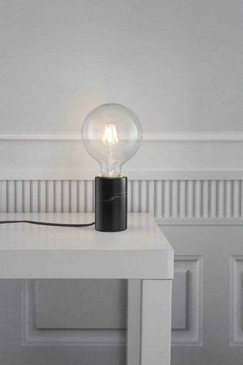 Siv Black Marble Table Lamp