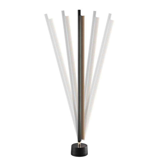 SpaceB Black and Opal White Glass Tunable Floor Lamp