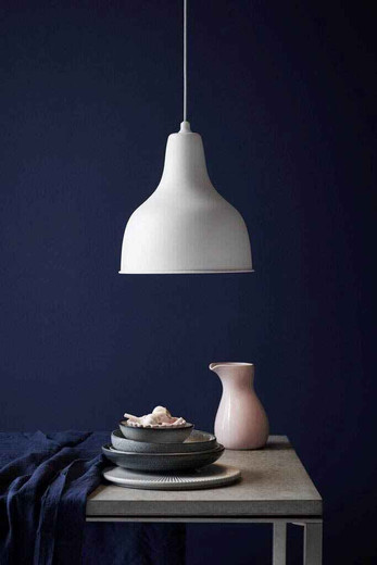 Ames White with White Shade Pendant Light