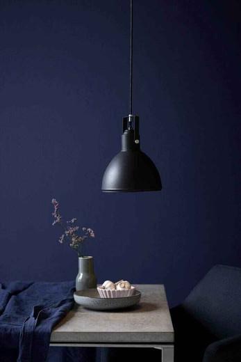 Ames Black with Black Shade Pendant Light