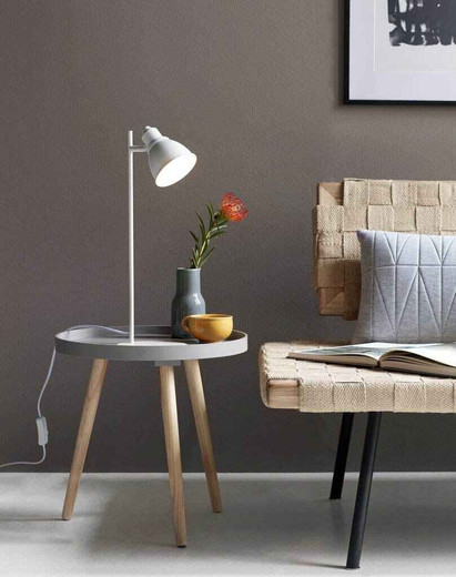 Mercer White with Shade Table Lamp