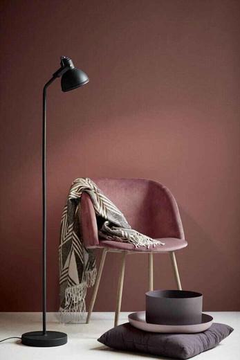 Aslak Black Finish Adjustable Floor Lamp