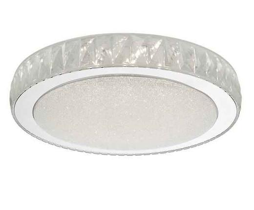 Akelia Large Acrylic & Stainless Steel LED Flush Ceiling Light