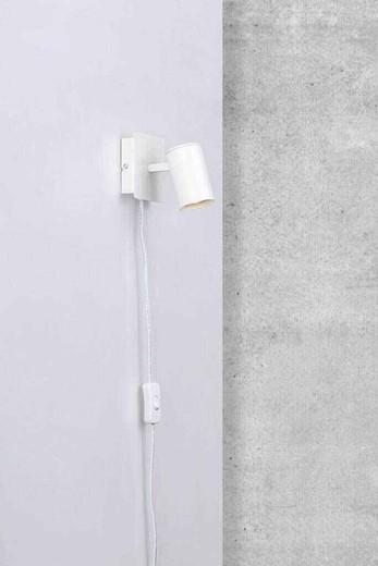 Frida Single White Adjustable Wall Light