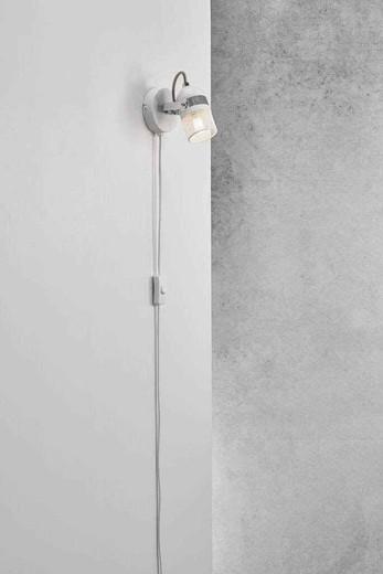 Agnes White Adjustable Wall Light
