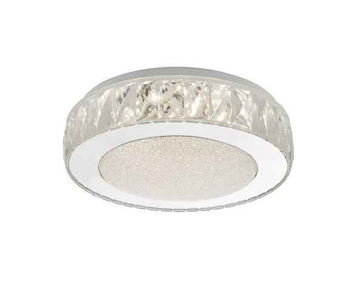 Akelia Small Acrylic & Stainless Steel LED Flush Ceiling Light