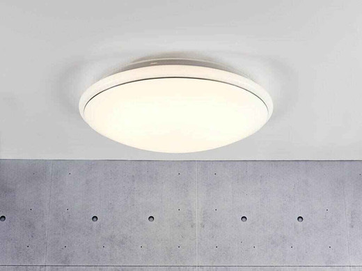 Melo 34 LED White with Opal White Glass Ceiling Light