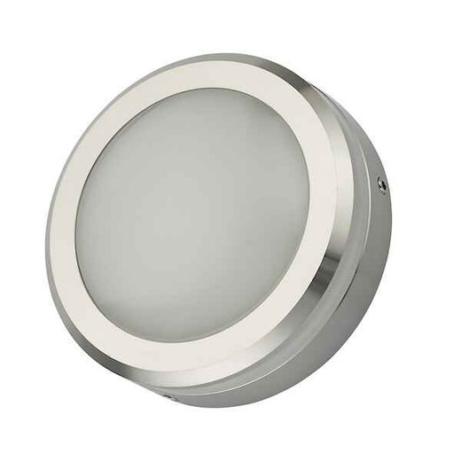 Akos Polished Aluminium IP65 LED Wall Light