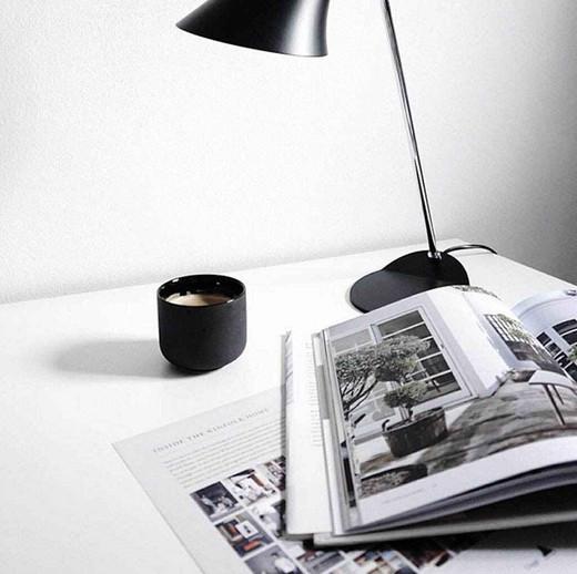 Vanila Adjustable Black and Chrome Task Table Lamp