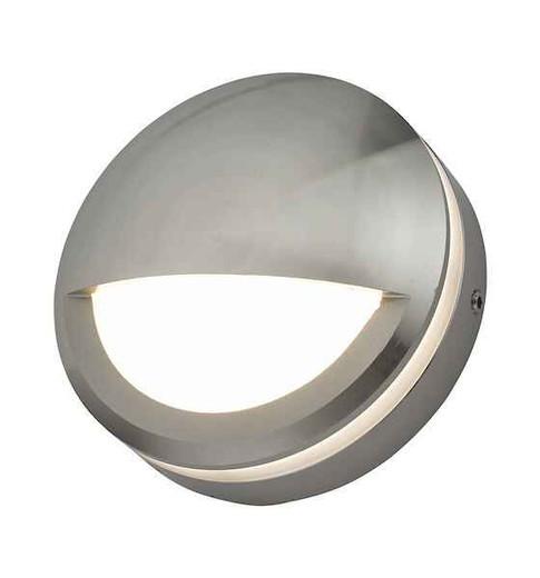 Akos Polished Aluminium Eyelid IP65 LED Wall Light