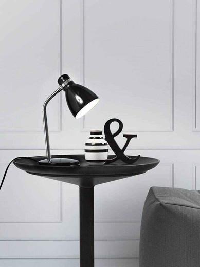 Cyclone Adjustable Black Table Lamp