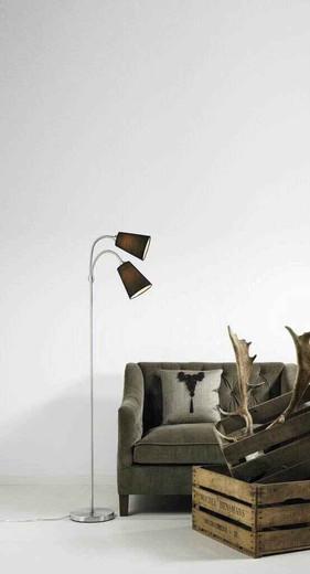 Lelio Twin Headed Adjustable Black Floor Lamp