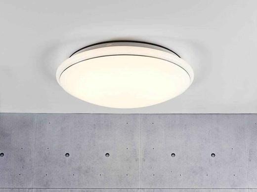 Melo 40 LED White with Matt White Glass Ceiling Light