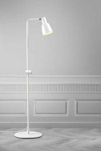 Patton White Metal Floor Lamp