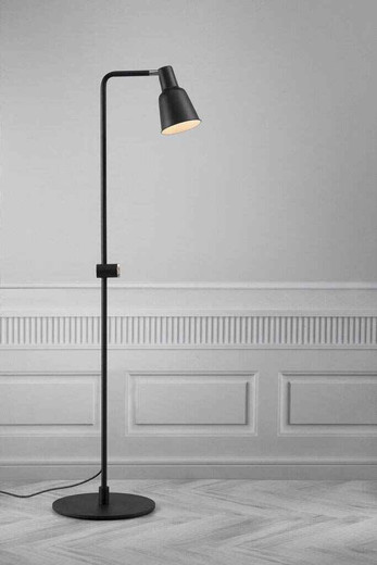 Patton Black Metal Floor Lamp