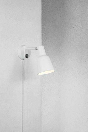 Patton White Metal Wall Light