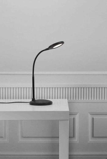 Dove LED Adjustable Black Table Lamp