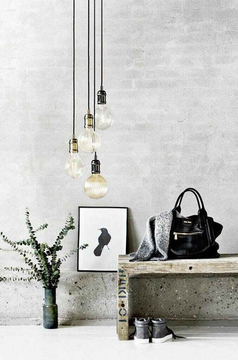 Avra Black/Chrome with Black Suspension Pendant Light