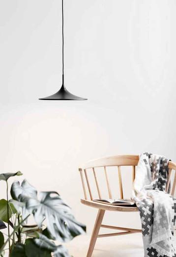 Skip 35 LED Black with Opal White Glass Pendant Light