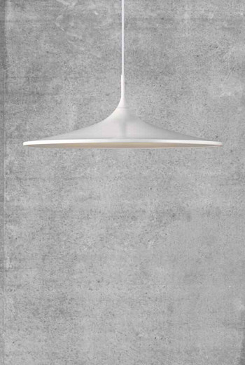 Skip 57 LED White with Opal White Glass Pendant Light