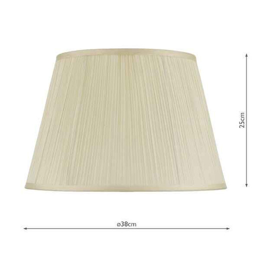 Cream Cotton Tapered Drum String Shade Only
