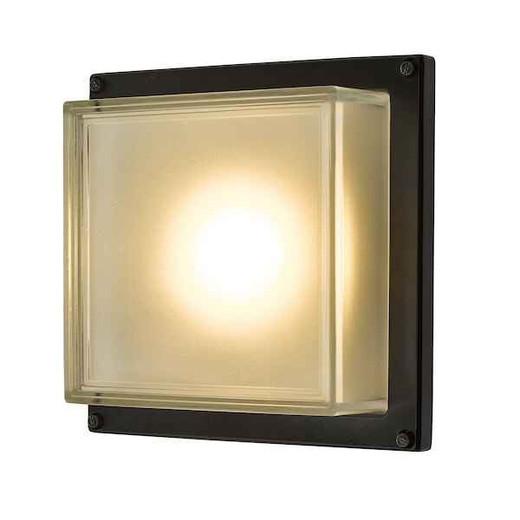 Aquilina Matt Black LED IP44 Outdoor Wall Light