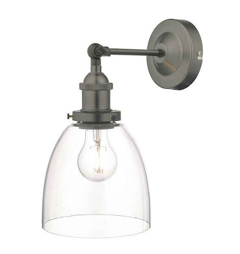 Arvin Antique Chrome and Glass Wall Light