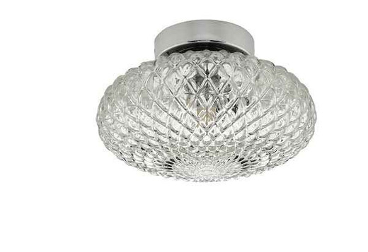 Bibiana 1 Light Polished Chrome with Clear Shade Small Wall/Ceiling Light