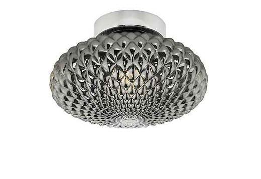 Bibiana 1 Light Light Polished Chrome with Smoke Glass Small Wall/Ceiling