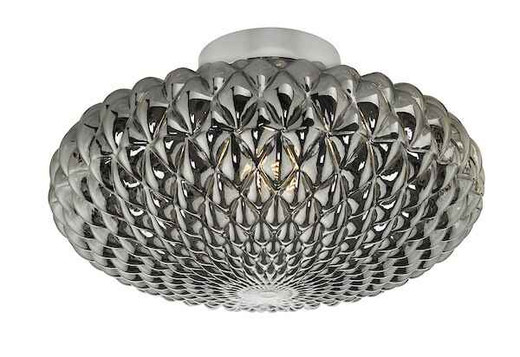 Bibiana 1 Light Polished Chrome with Smoke Glass Large Wall/Ceiling Light