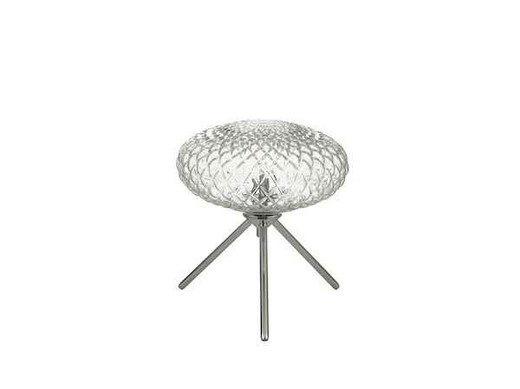 Bibiana Polished Chrome with Clear Glass Small Table Lamp