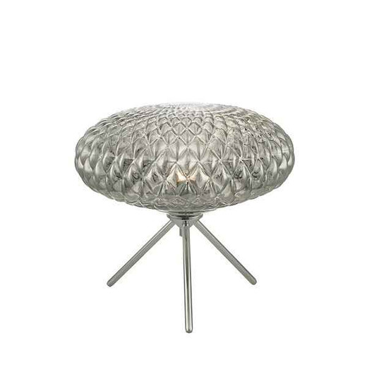 Bibiana Polished Chrome with Smoked Glass Large Table Lamp