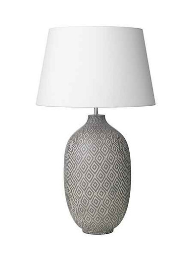Ceyda Ceramic & Grey Table Lamp Base Only
