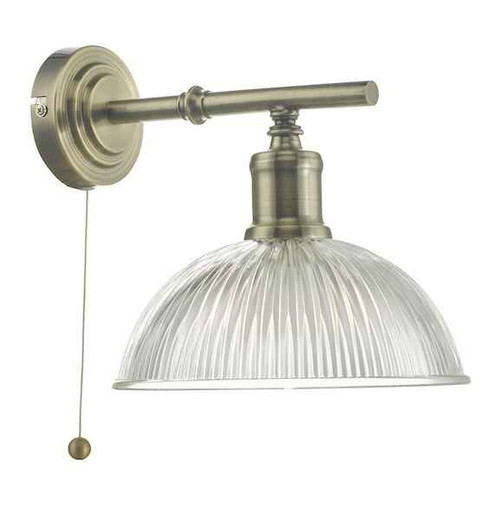 Dara Antique Brass & Glass Wall Light