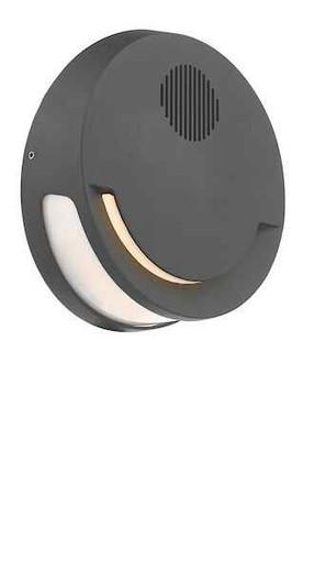 Euba Dark Grey with Speaker IP44 Outdoor Wall Light