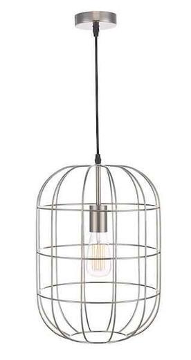 Eudora Satin Nickel Wire Caged Pendant Light
