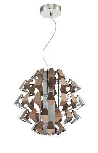 Falcon Polished Chrome and Brushed Bronze LED Pendant Light