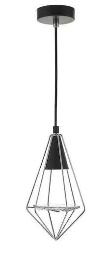 Gianni Black Polished Chrome and Glass Pendant Light
