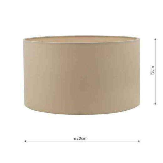 Hilda 30cm Taupe Light Shade Only