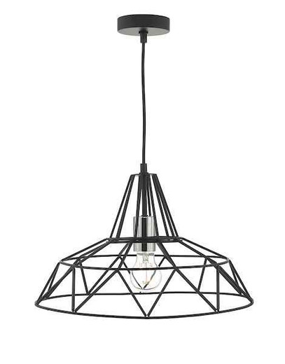 Hitika Black and Polished Chrome Pendant Light